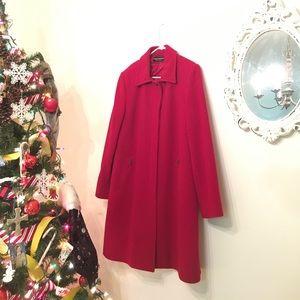 Bernard Holtzman warm wool red coat